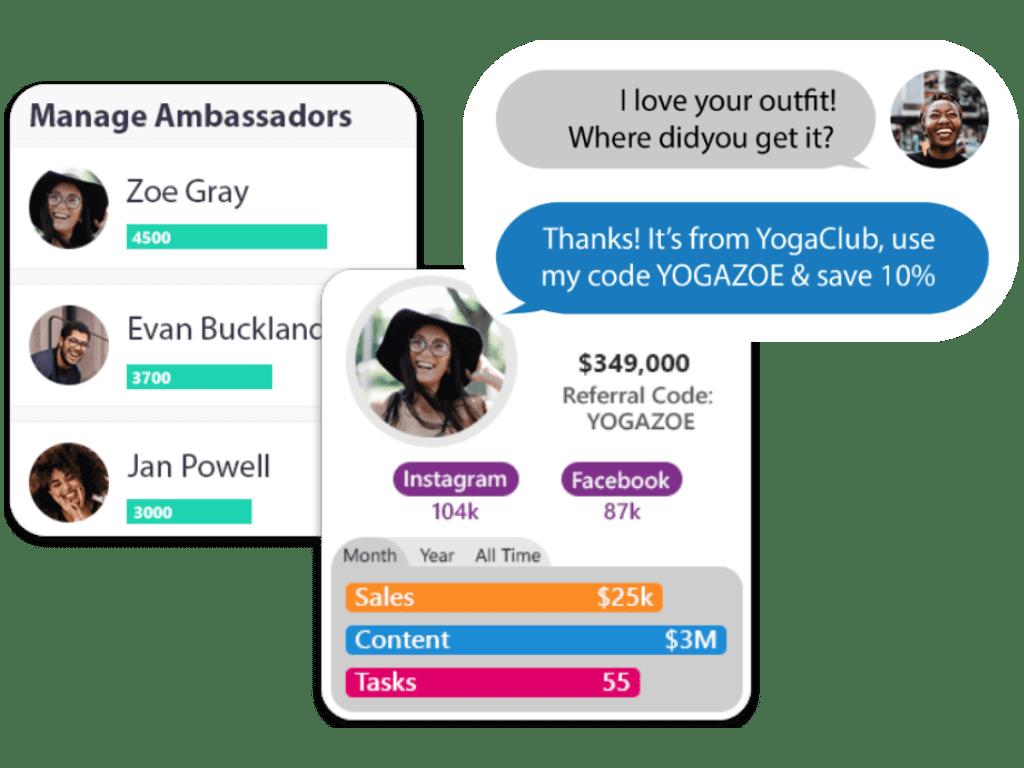 Student ambassador management features