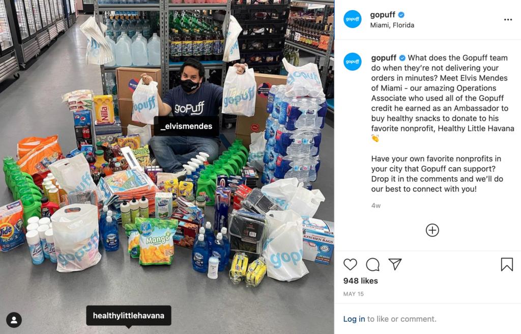goPuff brand ambassador